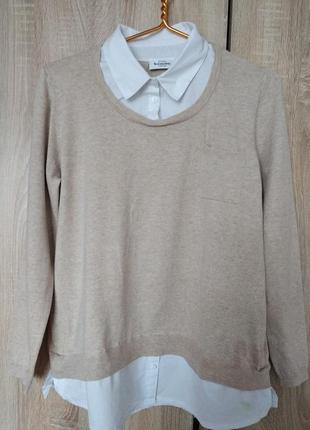 Стильная кофточка с имитацией блузки