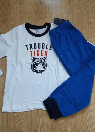Пижама lupilu на мальчика 2-4 года