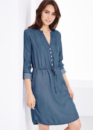 Платье рубашка размер 46-48 наш tchibo тсм
