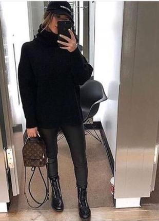 Трендовый шерстяной свитер с высоким горлом мохер h&m