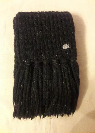 Вязаный шарф альпака шерсть акрил lacoste оригинал