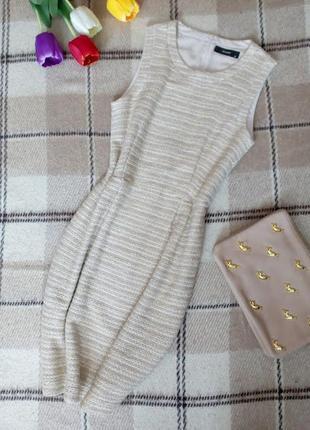 Классное платье букле сарафан с люрексом