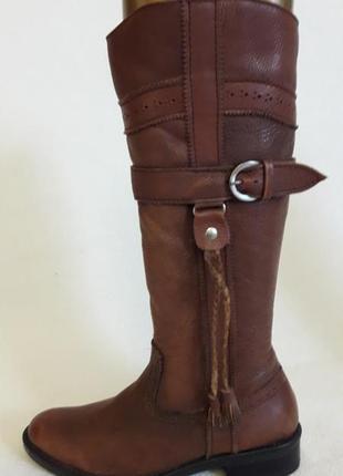 Отличные кожаные сапоги vero cuoio ( италия) р. 37 стелька 24 см