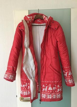 Осенне-зимняя куртка для беременных 3 в 1 со слингом