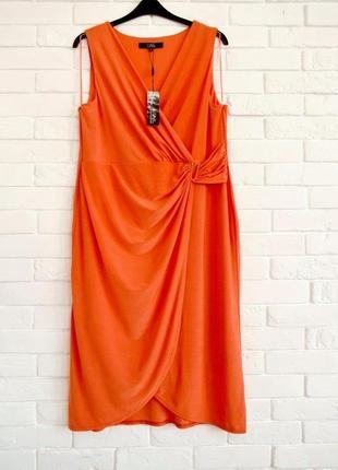 Очень красивое платье из трикотажа масло с перламутровым отливом debenhams uk18