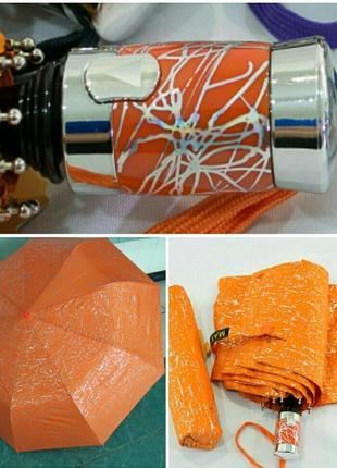 Зонт полуавтомат серебряная абстракция несмываемый рисунок антиветер.