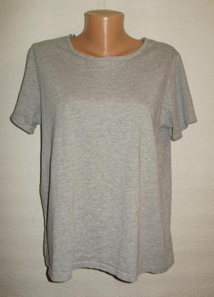 Базовая хлопковая футболка/батал/18/52-54 размера на рост до 170 см