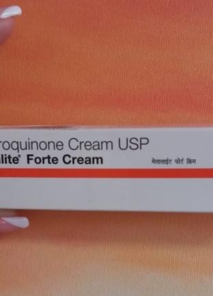 Крем для лечения  пигментации  и гипер пигментации .гидрохинон 4%.melalite forte