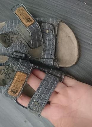 Текстильные босоножки на корковой подошве next