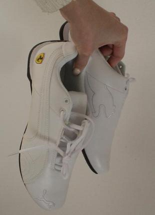Кроссовки puma ferrari белые