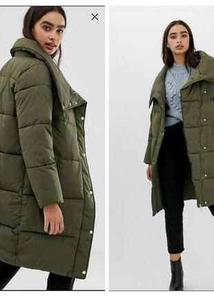 Одеяло пуховик miss selfridge, дутая куртка, пальто кокон, пухан размер м-l