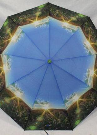 Женский складной зонт полуавтомат антиветер calmrain весна- осень 2019