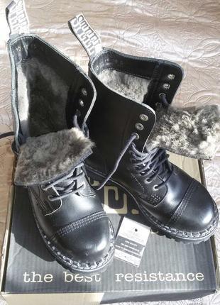 Крутые ботинки steel унисекс зима на 38-38,5