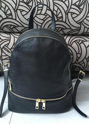Удобный рюкзак из мягкой натуральной кожи