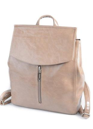 Кофейная сумка-рюкзак трансформер через плечо