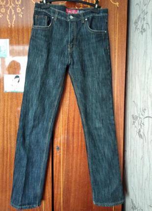Мужские теплые джинсы на флисе на высокий рост