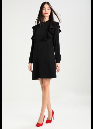 Красивое платье с оборками selected femme,p.s