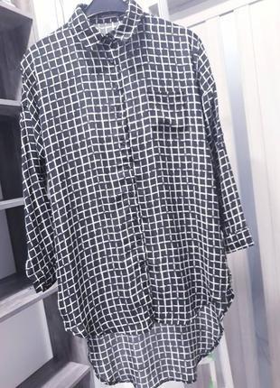 Стильна вільна блуза з подовженою спинкою / стильная блуза с удлиненной спинкой