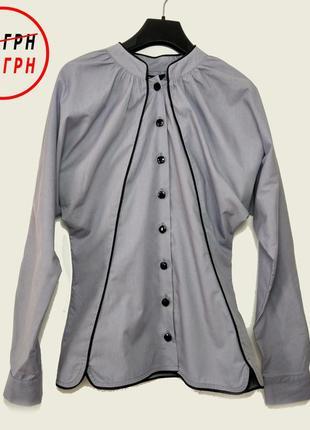"""Блуза / рубашка """"магия"""" tago в сером и белом цвете ( в наличии в размерах 34/36/38)"""