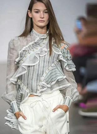 Модная брендовая блуза по скидке  в стиле zimmermann