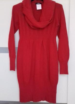 Тепле плаття туніка/ теплое платье туника с хомутом