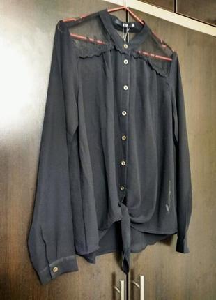 Ltb блузка с ажурным кружевом