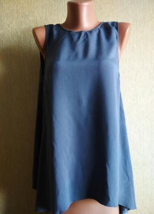 Brunello cucinelli прекрасная блуза из натурального шелка,р.38