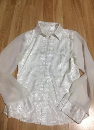Нарядная белая блуза