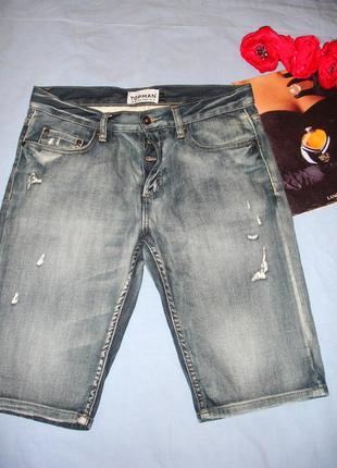 Мужские шорты джинсовые размер w30 w 30 размер 46 стрейчевые средней длины модные