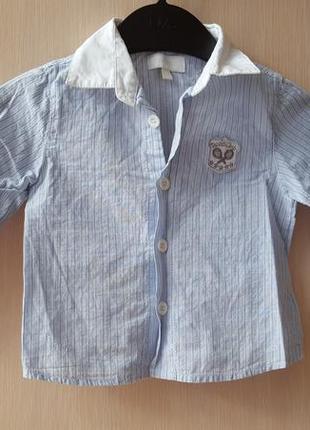 Рубашка bluekids, италия 9 мес