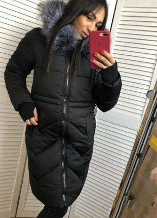 Распродажа! куртка зимняя весенняя оверсайз зефирка пуховик черная свободная теплая