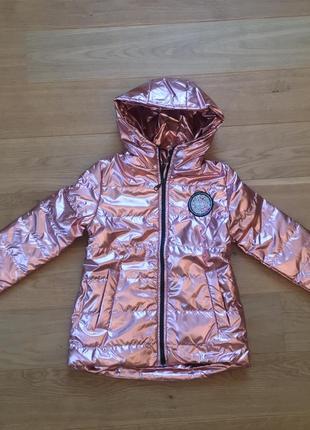 Куртка демисезон на девочку 5-8 лет, размеры 116-128 есть замеры