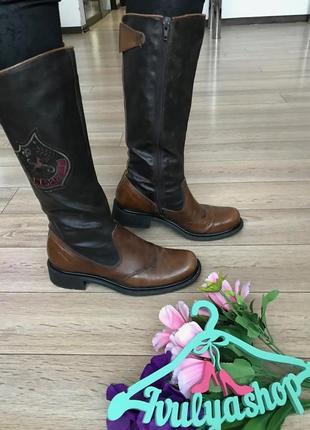 Удобные кожаные сапоги бренд. marc