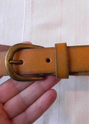 Рыжий кожаный ремень next 76-88,5 см