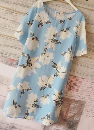 Цветочное платье туника платье футболка принт john zack