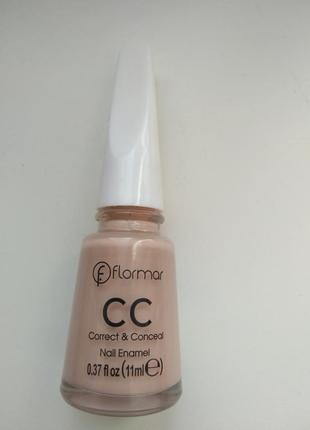 Лак-корректор  flormar cc correct & conceal nail enamel