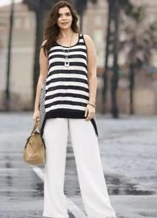 Широкие брюки летние 100%вискоза