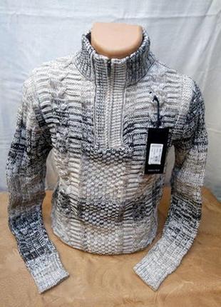 Теплый,зимний свитер на полузамке 50/52рр. турция