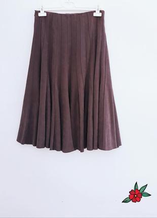 Стильная юбка миди юбка солнце клёш