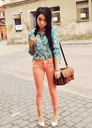 Стильные, укороченные , зауженные джинсы slim fit zara women