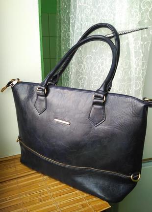 Шикарная,красивая,стильная,базовая вместительная большая сумка шопер шоппер