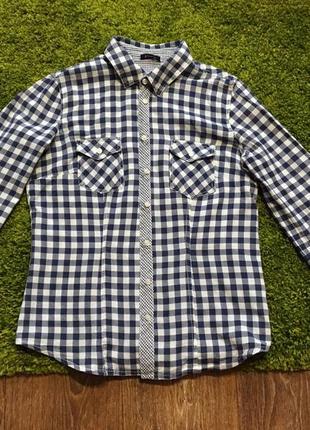 Классная рубашка в клетку pimkie p.м хорошее состояние