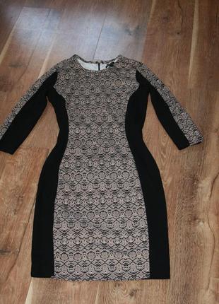 Крутое платье футляр mango  змеиный принт