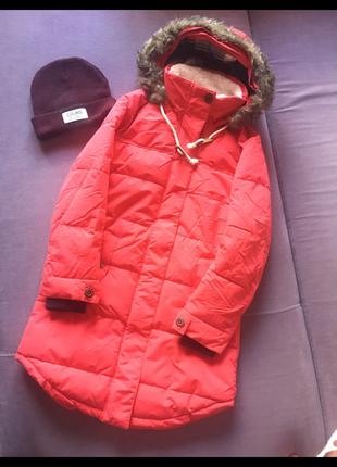 Актуальная длинная красная куртка colins ( не секонд) одета пару раз