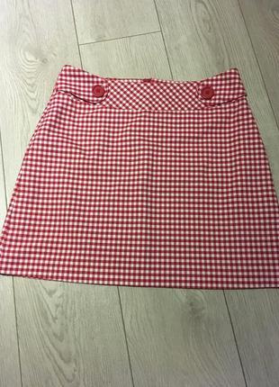 Короткая юбка в клетку lindex размер 40/l
