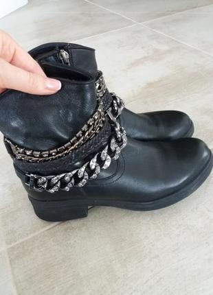 Кожаные ботинки estro , 39 размер