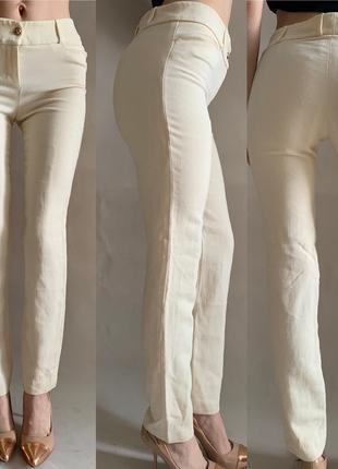 Классические брюки штаны кремовые yves saint laurent италия