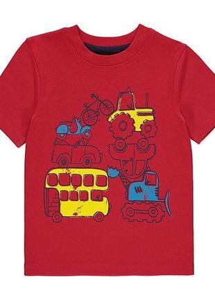 Новая футболка красная транспорт, george, 5969384