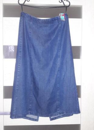 Миди юбки джинс лиоцел