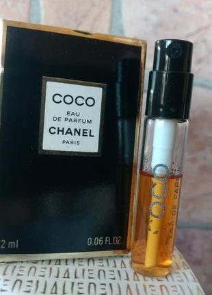 Coco eau de parfum chanel, фирменный пробник-спрей в коробочке 2 мл